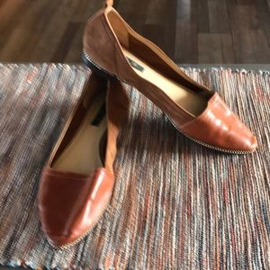 Rachel Zoe flats brown leather size 6